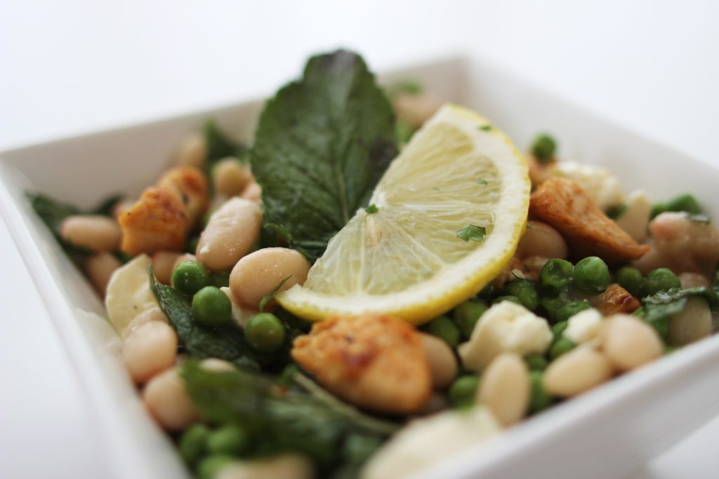 White bean_pea_chicken salad-2