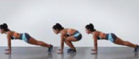 BBB workout - half frog jumps